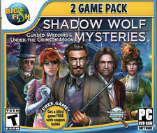 Shadow Wolf Mysteries UNDER THE CRIMSON MOON Hidden Object 2 PACK PC Game NEW