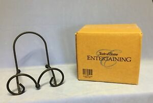 TASTE OF HOME BLACK WROUGHT IRON SQUARE BOWL HOLDER - NEW IN BOX