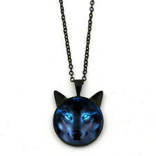 Fashion Men Women Nordic Wiccan Wolf Necklace Black Wolf Pendant Jewelry Gift