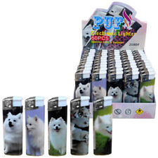 More details for 50 x refillable electronic lighter with japanese spitz dogs designs