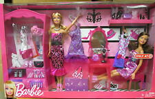 2011 BARBIE, I LOVE MY CLOSET. 2 DOLLS & FASHIONS...TARGET EXCLUSIVE.....NRFB