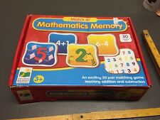 Match It! Mathematics Memory! 3+ Years Old, 30 Matching Pairs!
