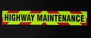 Highway Maintenance Fluorescent vehicle warning sign Magnetic and Self Adhesive