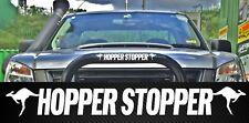 HOPPER STOPPER funny bullbar kangaroo outback country 4x4 Car Sticker 400mm
