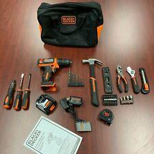 Black & Decker 12-Volt MAX Lithium-Ion Cordless Project Kit (57-Piece)