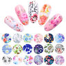 Nail Foils Rose Flowers Mixed Patterns Nail Art Transfer Decals Accessories Tips