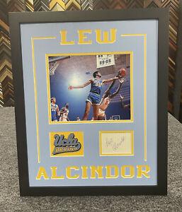 Lew Alcindor Signed cut JSA LOA Auto Custom Framed UCLA Bruins