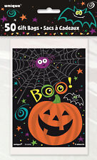 50x Halloween Spooky Party Supplies Spider Pals Trick Treat Loot Lolly Bags Boo