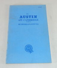 Betriebsanleitung / Owner´s Manual Austin A55 Cambridge Mk. II Baujahr 1959-1961