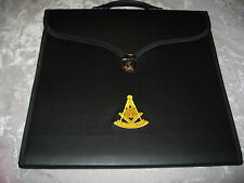 Black Past Master Masonic Apron Case Freemason Lock Lodge Jewels NEW!