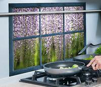 Wandsticker Wandschutz Klebefolie Aufkleber Spritzschutz Küche Fenster Blauregen