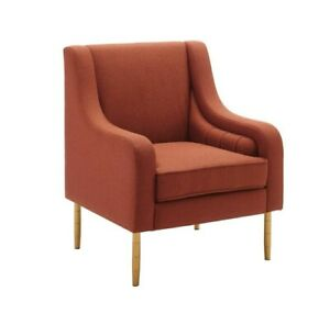 Linon Nova Accent Chair with Gold Legs New Polyester Fashion Comfort Lounge