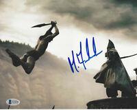 MICHAEL FASSBENDER HAND SIGNED '300' STELIOS 8x10 PHOTO 2 ACTOR BECKETT COA BAS