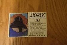 Mask Panini sticker 1986 ( M.A.S.K.  Kenner parker toys ) number 42
