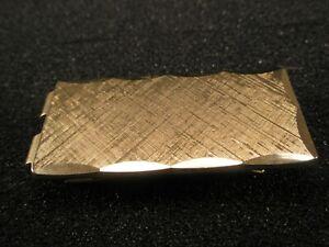 -Gold Tone Scalloped Edge Matte Finish Vintage ANSON Money Clip