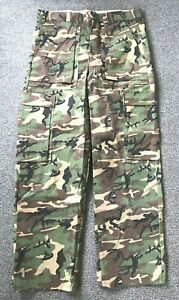 VTG Ideal Products Woodland Camo Hunting Paintball Pants Men's Size L NOS  37-40