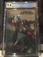 🔥🔥 Heroes in Crisis 1 CGC 9.8 Mattina Harley Quinn NYCC Silver Foil Variant!🔥