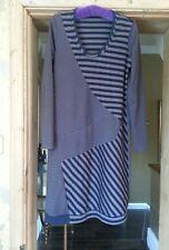 Sandwich  Mink/Brown &  Black striped dress . Size M
