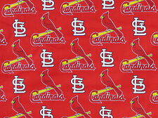 "Fabric Traditions St Louis Cardinals Red MLB BHY 60"" wide"