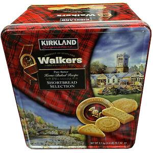 🎄 Kirkland Signature Walkers Premium Shortbread Selection Tin 2.1kg 🎄 4.6Lb 🎅