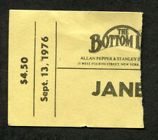 1976 Jane Olivor Don Shirley concert ticket stub Bottom Line Ny First Night