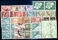 CHILE 18 BLOCK OF 4 STAMPS LOT (72 STAMPS) USED VF