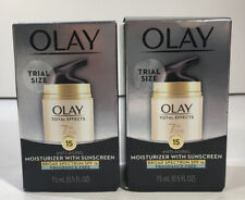 2 Olay Total Effects 7 in 1 Face Moisturizer SPF 15 TRIAL SIZE 0.5 oz Ea 08/2020