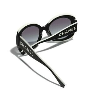 CHANEL 2021 Iconic Two Tone Square Sunglasses  Black White Acetate *SOLD OUT*