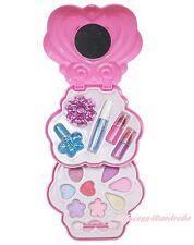 Princess Pink Purple Heart Kids Girl Makeup Cosmetics Eyeshadow Nail Polish Box