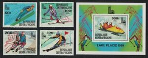Central African Rep. Winter Olympic Games Lake Placid 1980 4v+MS 1979 MNH