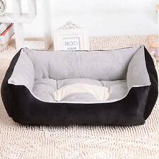 B212 Black Warm Soft Indoor Puppy Pets Dog Cat Bed House Basket Nest Mat 70x52cm