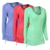 Womens Ladies Sporty Style Hoodie Plain Solid Hooded Top T-shirt Size S M L XL