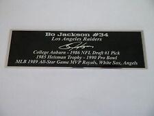 Bo Jackson Autograph Nameplate Los Angeles Raiders Autograph Ball Jersey Helmet