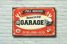 Mechanic on Duty Metal Sign, Mechanics, Workshop, Garage Decor, Vintage, 643