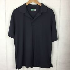Ben Hogan Mens Shirt Golf Polo Short Sleeves Gray Stripes Size Large Stretch