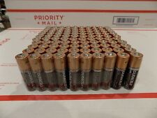 100 Batteries Duracell Coppertop Duralock AA Size Alkaline Batteries EXP 2021