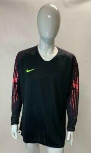 Nike Mens Sport Top Long Sleeve New Black Polyester Pink Dri-Fit 2XL D1104