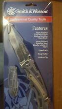 SMITH & WESSON BORDER GUARD RESCUE TANTO STONEWASHED FOLDING KNIFE SWBG8TS
