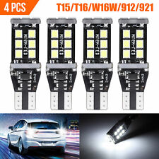 4X 921 LED Reverse Light Canbus Error Free 912 T15 W16W Backup Bulb 750LM White