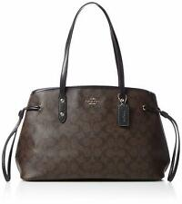 NWT Coach Signature Drawstring Carryall Shoulder Bag F57842 - Brown / Black
