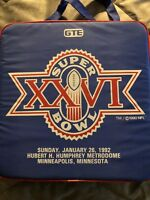 Super Bowl XXVI 26 Seat Cushion/Gift Items/Card Stunt/Program.1992