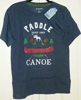 LITTLE BLUE HOUSE By Hatley Men's Boating Camping Canoe T-Shirt ~ Sz S ~ NWT