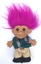 M3~ Russ Berrie Troll kids collectible Troll doll camper brown eyes