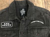 Vans Iggy Stooges Black Raw Power Black Denim Jacket Size small rare