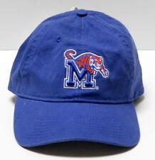 University of Memphis Tigers UofM NCAA Blue Cotton Cap Hat Strapback NWT