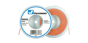 Wire Electrical Viessmann Hank for 25 M.Section 0,14 Mmq. in 9 Colours Diversi