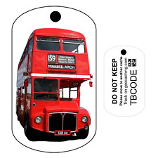 Red London Bus UK Travel Tag (Travel Bug) Geocaching Trackable Tag  Unactivated