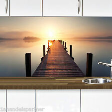 Küchennischen Deko SET Wand Küchen Spritzschutz Wandschutz Sonnenuntergang 68
