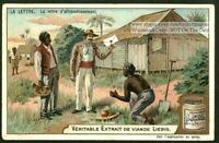 The Postage Letter Delivery Mail Lettre D'affranchissement c1903 Trade Ad Card