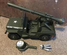 GI Joe Combat Jeep Spot Light Rocket Launcher Vintage Set Action Soldier